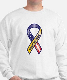 Support Our Troops - Ribbon Sweatshirt