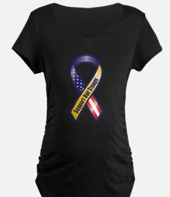 Support Our Troops - Ribbon Maternity T-Shirt