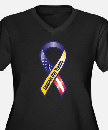 Support Our Troops - Ribbon Plus Size T-Shirt