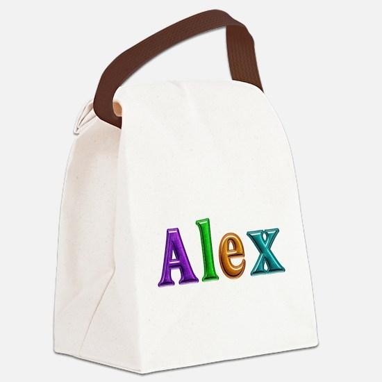 Alex Shiny Colors Canvas Lunch Bag