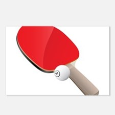 Table Tennis - Ping Pong Postcards (Package of 8)