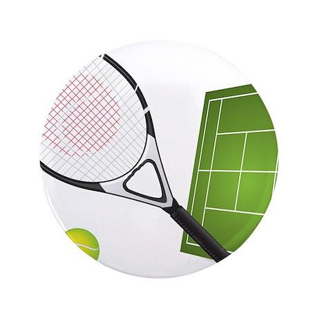"""Tennis - Sport 3.5"""" Button"""