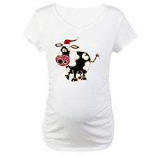 Funny Cow Christmas Art Shirt