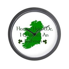 I Married An Irishman Wall Clock