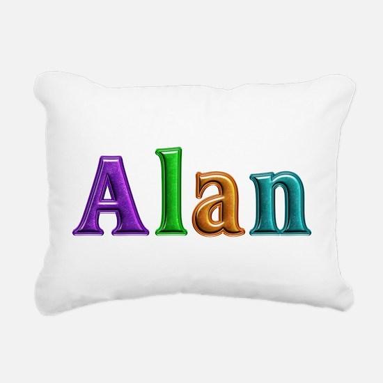 Alan Shiny Colors Rectangular Canvas Pillow