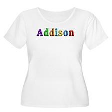 Addison Shiny Colors Plus Size T-Shirt