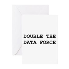 Double The Data Force Greeting Cards (Pk of 10