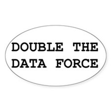 Double The Data Force Oval Decal