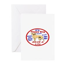 Happy Dog Greeting Cards (Pk of 10)