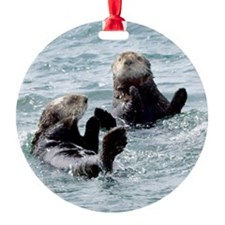 Two by Two Otters Ornament