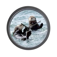 Two by Two Otters Wall Clock