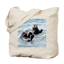 Two by Two Otters Tote Bag
