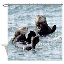 Two by Two Otters Shower Curtain