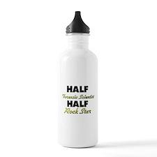 Half Forensic Scientist Half Rock Star Water Bottl
