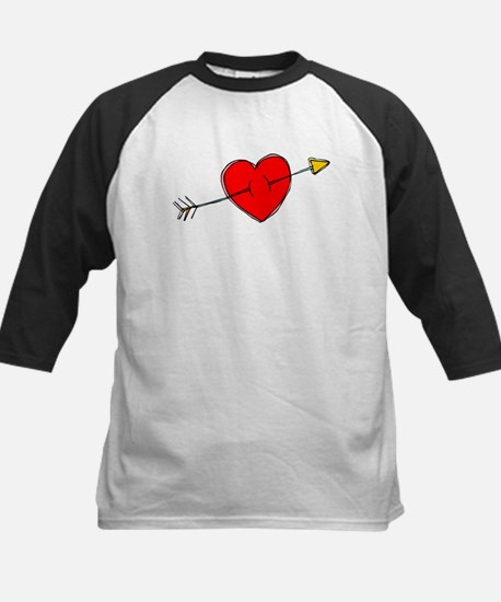 Arrow Through Heart Kids Baseball Jersey