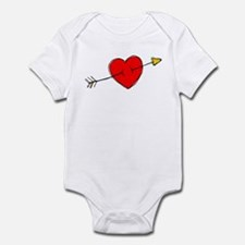Arrow Through Heart Infant Bodysuit