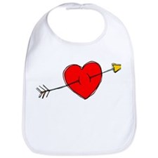 Arrow Through Heart Bib