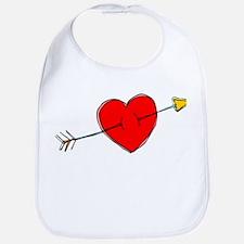 Arrow Through Heart Bib