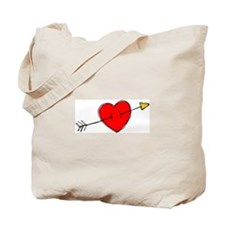 Arrow Through Heart Tote Bag
