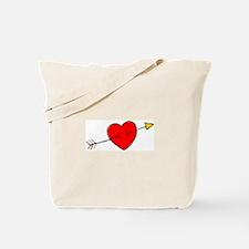Arrow Through Heart Tote Bag