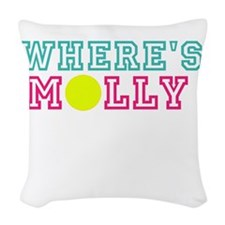 WHERES MOLLY Woven Throw Pillow