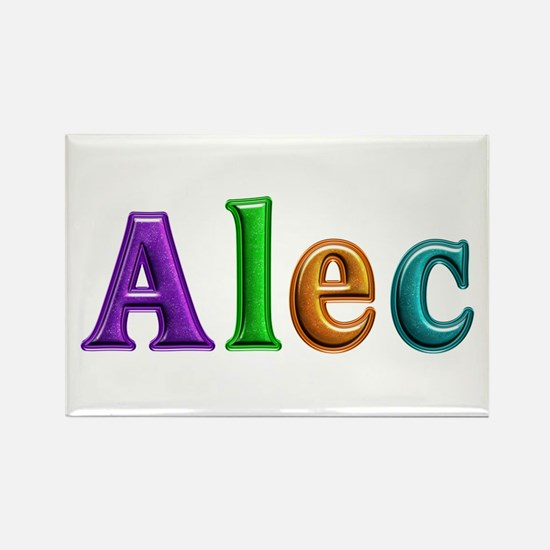Alec Shiny Colors Rectangle Magnet