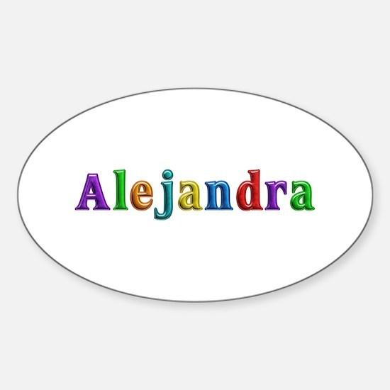 Alejandra Shiny Colors Oval Decal