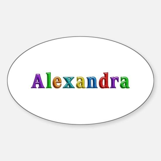 Alexandra Shiny Colors Oval Decal