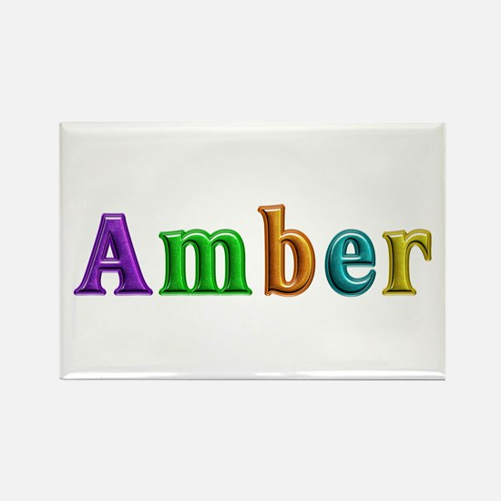 Amber Shiny Colors Rectangle Magnet