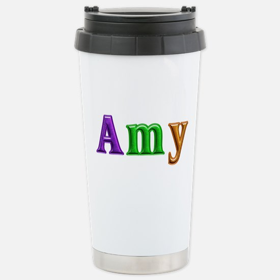 Amy Shiny Colors Stainless Steel Travel Mug
