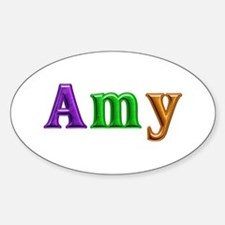 Amy Shiny Colors Oval Decal