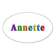 Annette Shiny Colors Oval Decal