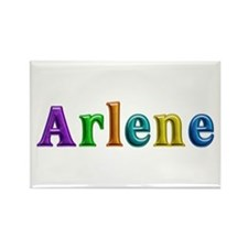 Arlene Shiny Colors Rectangle Magnet