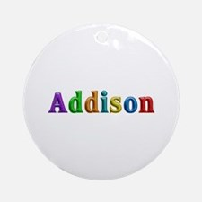 Addison Shiny Colors Round Ornament