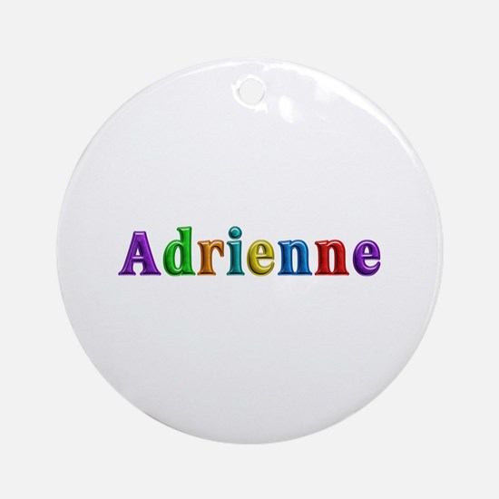 Adrienne Shiny Colors Round Ornament
