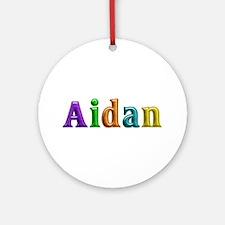 Aidan Shiny Colors Round Ornament