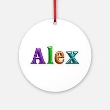 Alex Shiny Colors Round Ornament