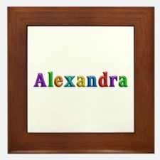 Alexandra Shiny Colors Framed Tile