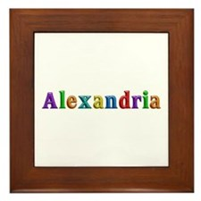 Alexandria Shiny Colors Framed Tile
