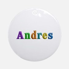 Andres Shiny Colors Round Ornament