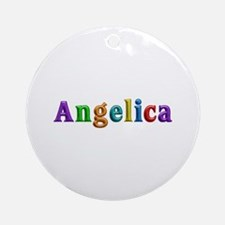 Angelica Shiny Colors Round Ornament
