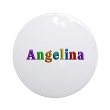 Angelina Shiny Colors Round Ornament