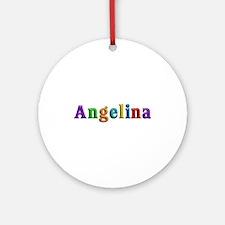 Angelina Shiny Colors Round Ornament