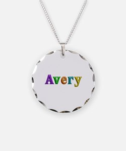 Avery Shiny Colors Necklace Circle Charm