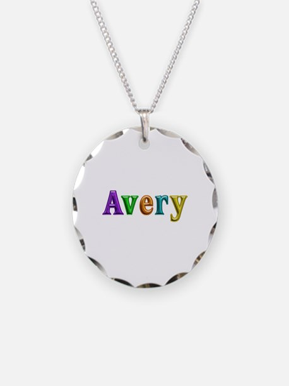 Avery Shiny Colors Necklace Circle Charm