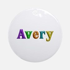 Avery Shiny Colors Round Ornament
