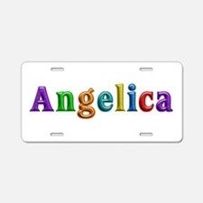 Angelica Shiny Colors Aluminum License Plate