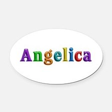 Angelica Shiny Colors Oval Car Magnet