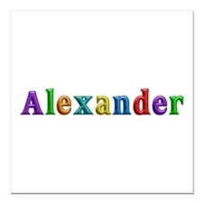 Alexander Shiny Colors Square Car Magnet