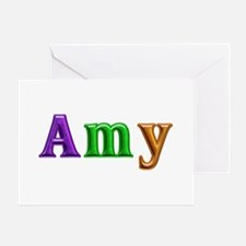 Amy Shiny Colors Greeting Card